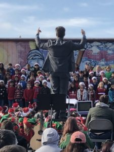 Mr. Cook directing the 2018 Holiday Show